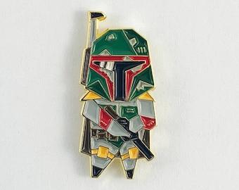 Boba Fett Pin,Star Wars Gift,Origami Boba Fett Soft Enamel Pin,Enamel Pin,Origami Jewelry,Boba Fett Gift,Star Wars Pins,Boba Fett Enamel Pin