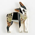 Origami Boston Terrier Enamel Pin,Boston Terrier Jewelry,Dog Pin,Dog Gift,Dog Lover,Boston Terrier Gifts,Boston Terrier Pin,Dogs,Dog Gifts