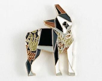Origami Boston Terrier Enamel Pin,Boston Terrier Jewelry,Dog Pin,Dog Gift,Dog Lover,Boston Terrier Gifts,Boston Terrier Pin,Dogs,Terrier