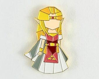 Legend of Zelda Pin,Princess Zelda Enamel Pin,Zelda Pin,Origami Pin,Gamer Gifts,Zelda gift,Enamel Pin,Nintendo,Gamer Gifts,Princess Zelda