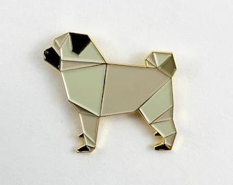 Pug Dog Enamel Pin,Enamel Pins,Pug Enamel Pin,Dog Pin,Dog Gift,Dog Lover,Pug Jewelry,Pug Lover,Pug Dog,Pug Gift,Pug Pin,Origami Pug Dog Pin