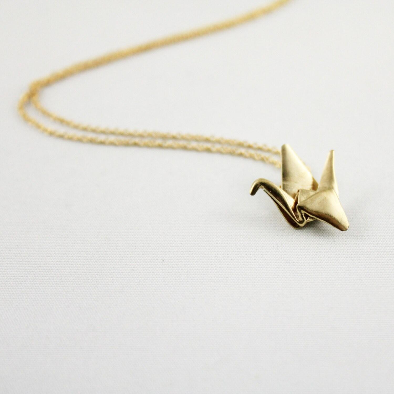 Paper Crane NecklaceOrigami Crane NecklacePaper Crane   Etsy - photo#49