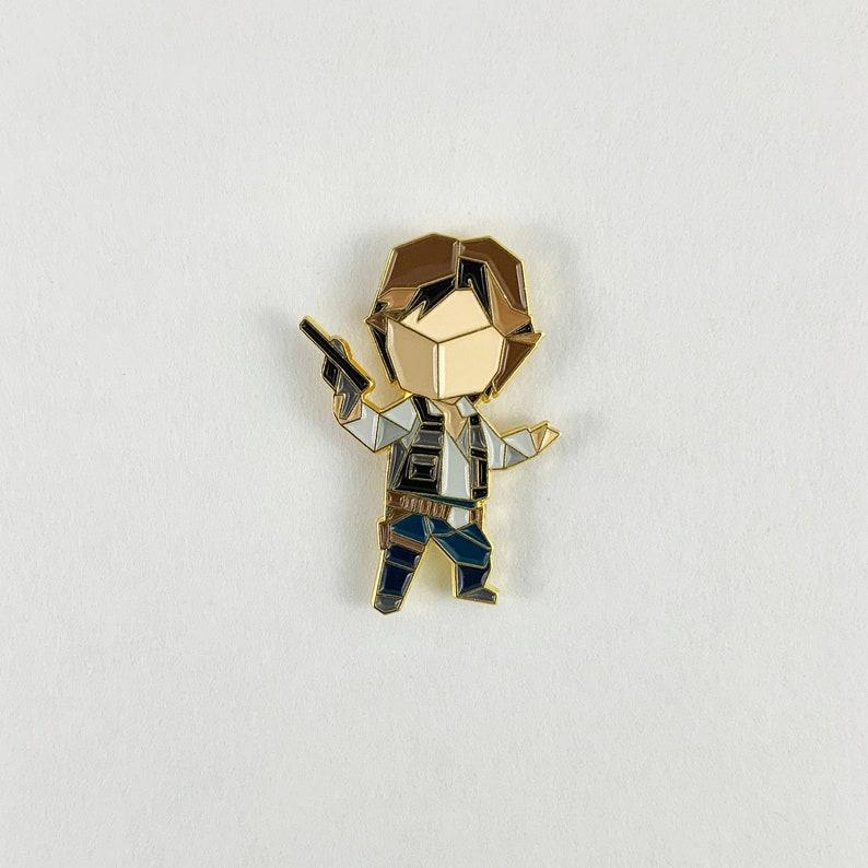 Han Solo PinStar Wars GiftOrigami Han Solo Soft Enamel image 0