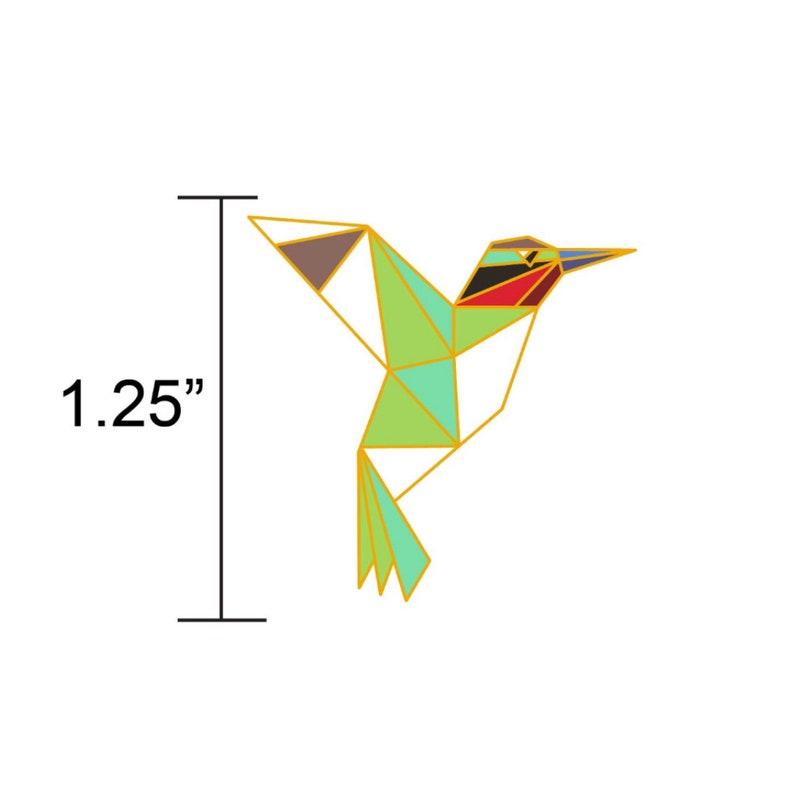 PREORDER: Hummingbird Enamel PinBird Enamel PinOrigami image 0