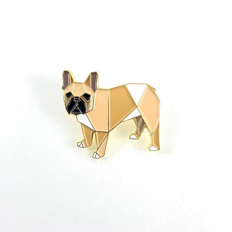 Origami French Bulldog Enamel PinEnamel PinFrench Bulldog image 0