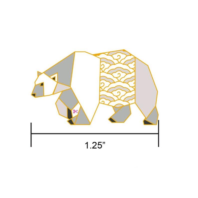 PREORDER: Origami Polar Bear Enamel PinBear Enamel PinBear image 0