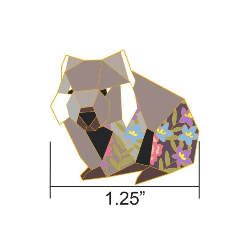 PREORDER: Origami Wombat Enamel PinWombat Enamel PinWombat image 0
