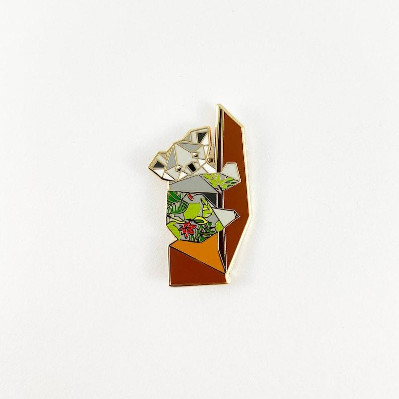Origami Koala Enamel PinKoala Enamel PinKoala pinKoala image 0