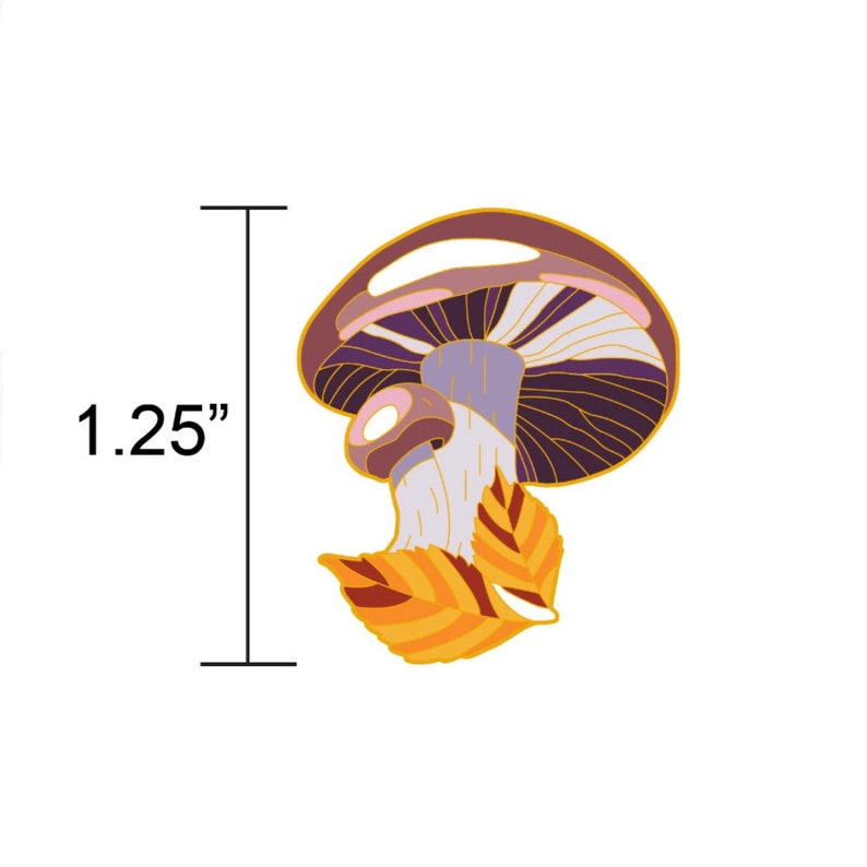 PREORDER: Blewit Mushroom Hard Enamel PinMushroom Enamel image 0