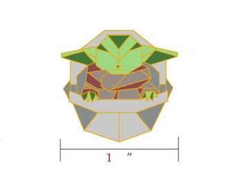 Baby Yoda Pin,Star Wars Gift,Origami Baby Yoda Enamel Pin,Enamel Pin,Origami Jewelry,Baby Yoda Gift,Star Wars Pins,Baby Yoda Pin,Baby Yoda