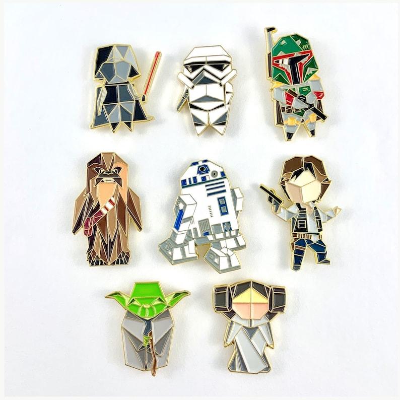 Star Wars Pin SetPin SetYoda Enamel PinEnamel PinsStar image 0