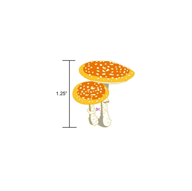 PREORDER: Fly Agaric Mushroom Hard Enamel PinMushroom Enamel image 0