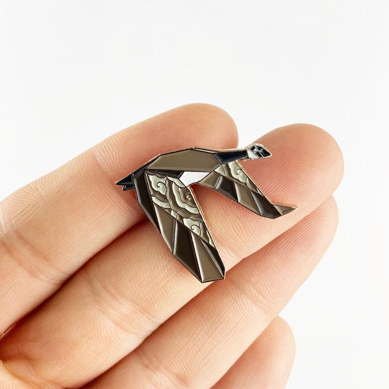 Origami Canada Goose Enamel PinGoose Enamel PinBird image 0
