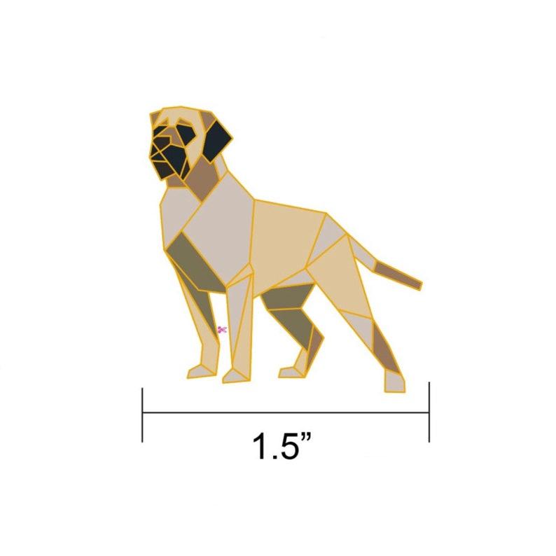 Origami English Mastiff Dog Enamel PinEnamel PinOrigami image 0