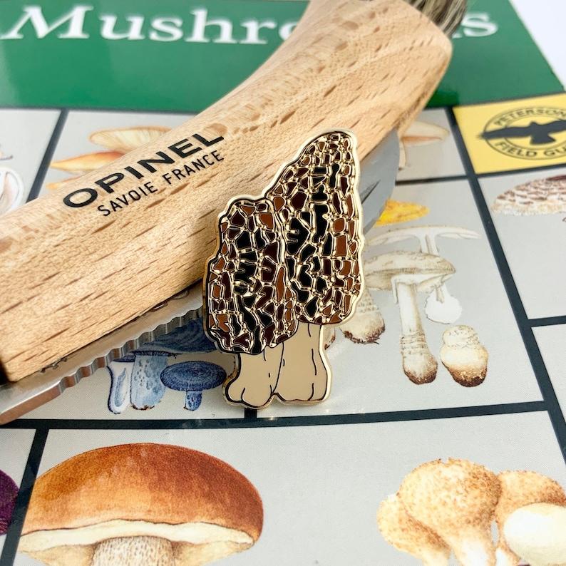 Morel Mushroom Hard Enamel PinMushroom Enamel image 0