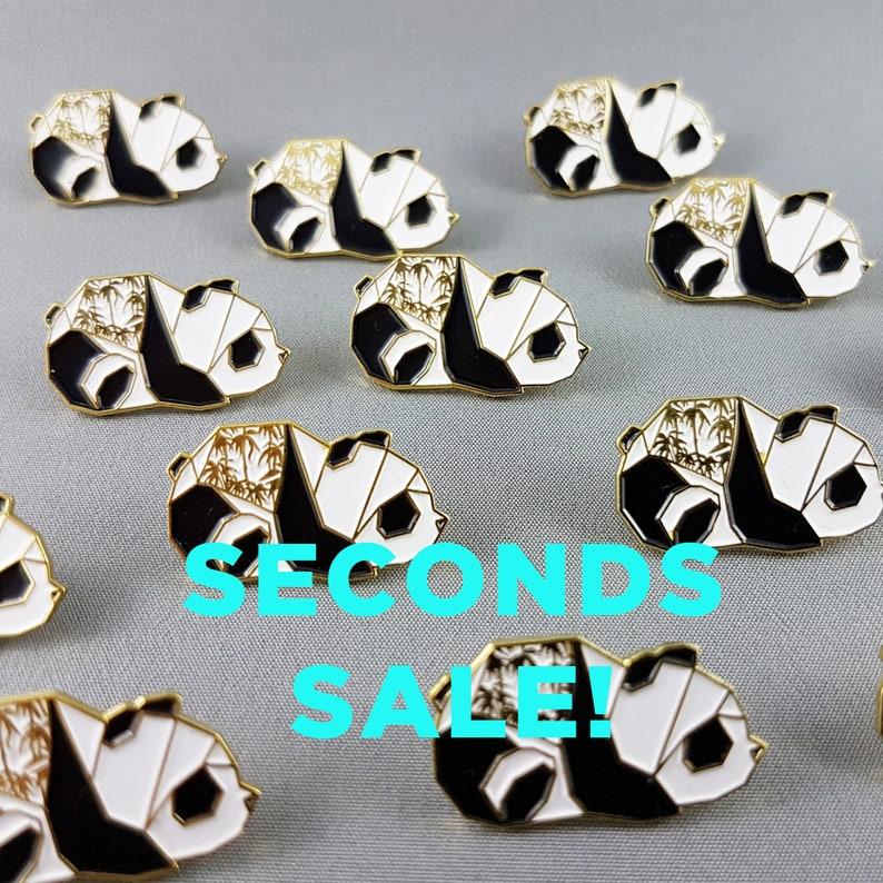 Seconds SaleOrigami Panda Enamel PinB Grade PinEnamel image 0