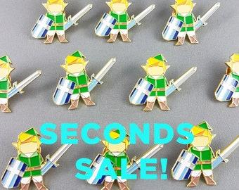 Seconds Sale,Legend of Zelda Pin,B Grade Pins,Link Enamel pin,Zelda Pin,Retro Game Gift,Zelda gift,Imperfect Pins sale,Defective Pin Sale