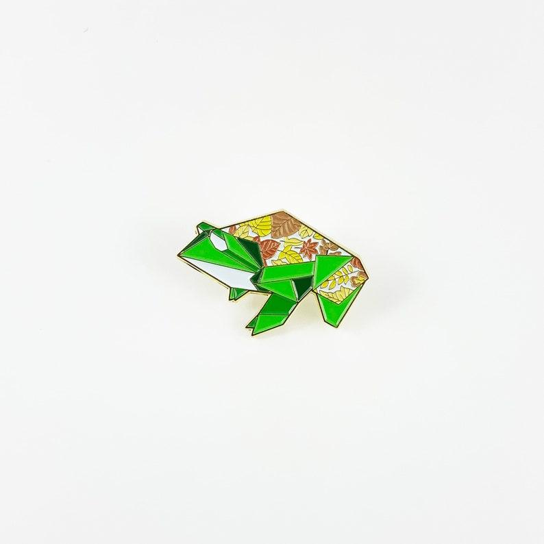 Origami Frog Soft Enamel PinFrog Enamel PinOrigami image 0