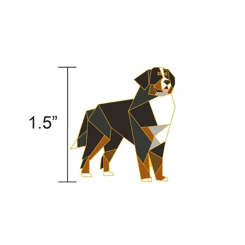 Bernese Mountain Dog Enamel PinBernese Dog JewelryDog image 0