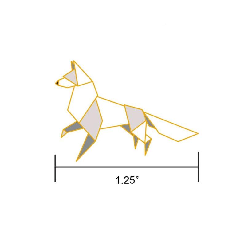 PREORDER: Origami Arctic Fox Enamel PinFox Enamel PinFox image 0
