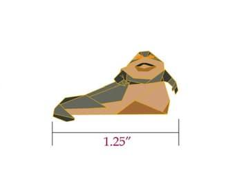 Jabba the Hutt Pin,Star Wars Gift,Origami Jabba the Hutt Enamel Pin,Enamel Pin,Origami Jewelry,Jabba the Hutt Gift,Star Wars Pins,Star Wars