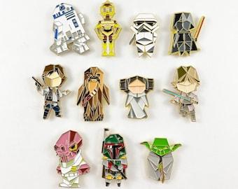 Star Wars Pin Set,Pin Set,Yoda Enamel Pin,Enamel Pins,Star Wars Gift,Leia Pin,Darth Vader Pin,Star Wars Pin,Star Wars Gifts,stocking stuffer
