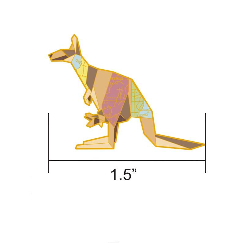 PREORDER: Origami Kangaroo Enamel PinKangaroo Enamel image 0