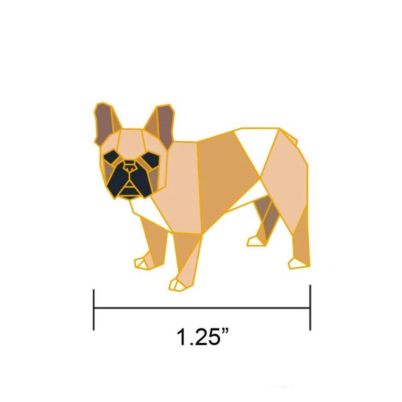 PREORDER: Origami French Bulldog Enamel PinEnamel PinFrench image 0