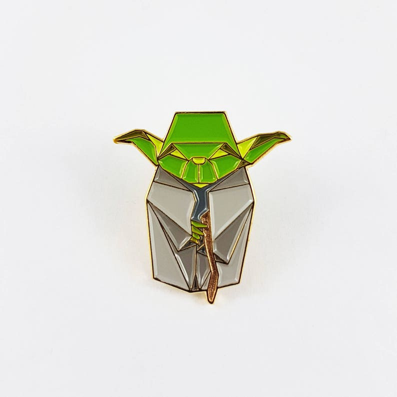 Yoda PinStar Wars GiftOrigami Yoda Soft Enamel PinEnamel image 0
