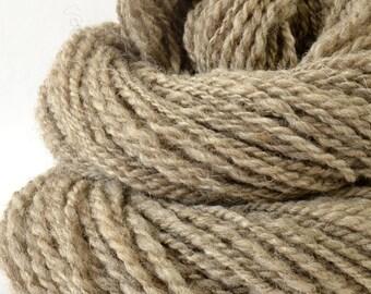 Handspun Yarn - Silk / Suffolk Wool -  1.75oz, 172yd, WPI 17