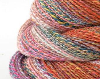Handspun Yarn, Vegan Faux Cashmere Yarn - 1.75oz, 190yd, WPI 22,