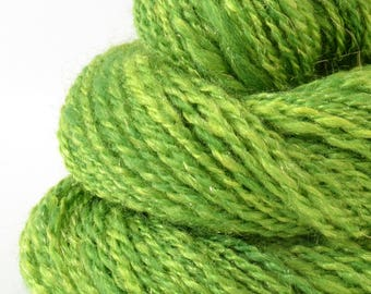 Handspun Yarn -  Finn Cross Corriedale Romney Yarn - Art Yarn- 1.7oz, 130yd, 15WPI
