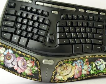 Computer Keyboard - Hand-Painted Russian Style Keyboard - Zhostovo