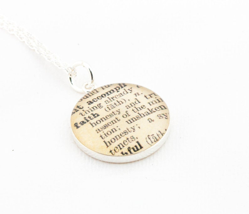 Sterling Silver Definition of FAITH Pendant and Necklace  image 0