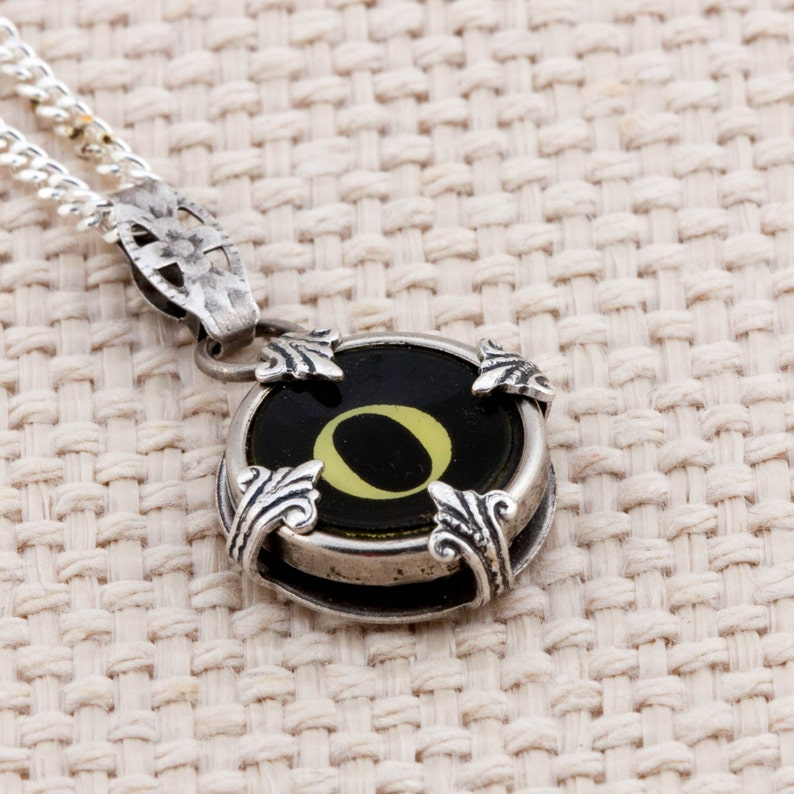 Victorian Typewriter Key Pendant and Necklace  Initial O image 0