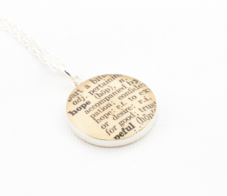 Sterling Silver Definition of HOPE Pendant and Necklace  image 0