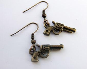 Gun earings