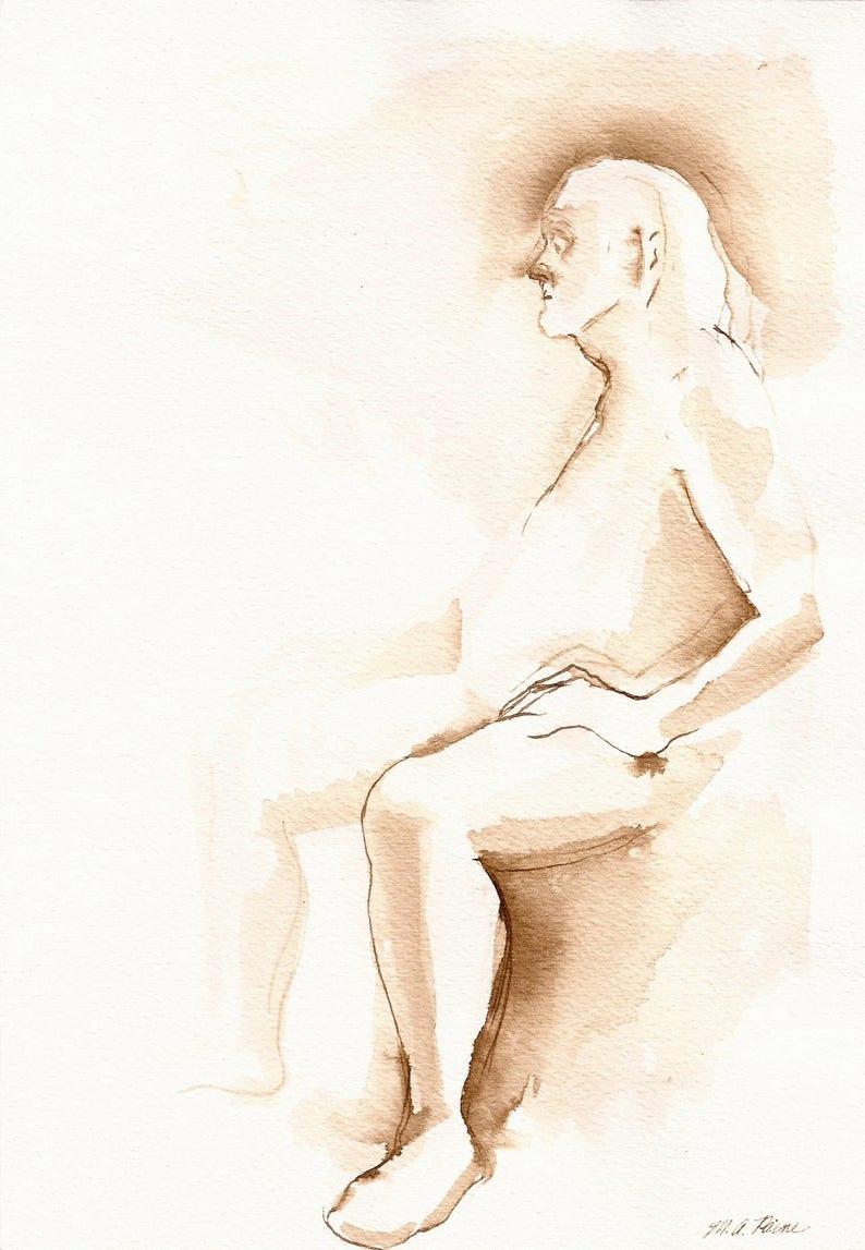 Mannelijk naakt kunst model