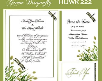 Digital Dragonfly Invitation Package Editable Download