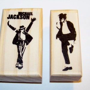 4 New Mounted Rubber Stamps Micheal Jackson Our Best Selling MICHAEL STAMPS!