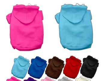 Blank Dog Hoodie Sweatshirt for printing, vinyl, embroidery - Dog Sweatshirt Blanks -poly/cotton blend