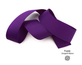 Purple Grosgrain Ribbon   USA Made Purple Berwick Offray Grosgrain Ribbon   3/8 inch, 5/8 inch, 7/8 inch, 1.5 inch Purple Ribbon   (465)