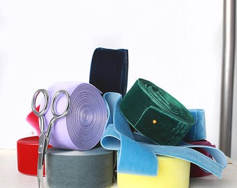 1.5 (1&1/2) inch Nylvalour Swiss velvet ribbon -- 40 colors - Swiss Nylvalour Nylon Polyamide Velvet Ribbon
