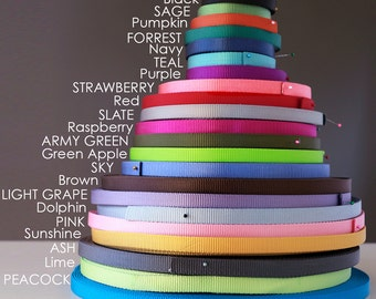 "Nylon Webbing by the Yard --  5/8"" and 1"" width Heavy Weight-- 22 colors to choose from --"