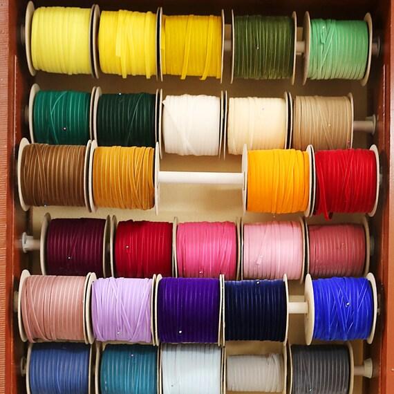 3/8 po Nylvalour Suisse ruban de velours - 40 couleurs - 3/8 de pouce du ruban en velours Suisse en nylon, velours polyamide 3/8 de pouce