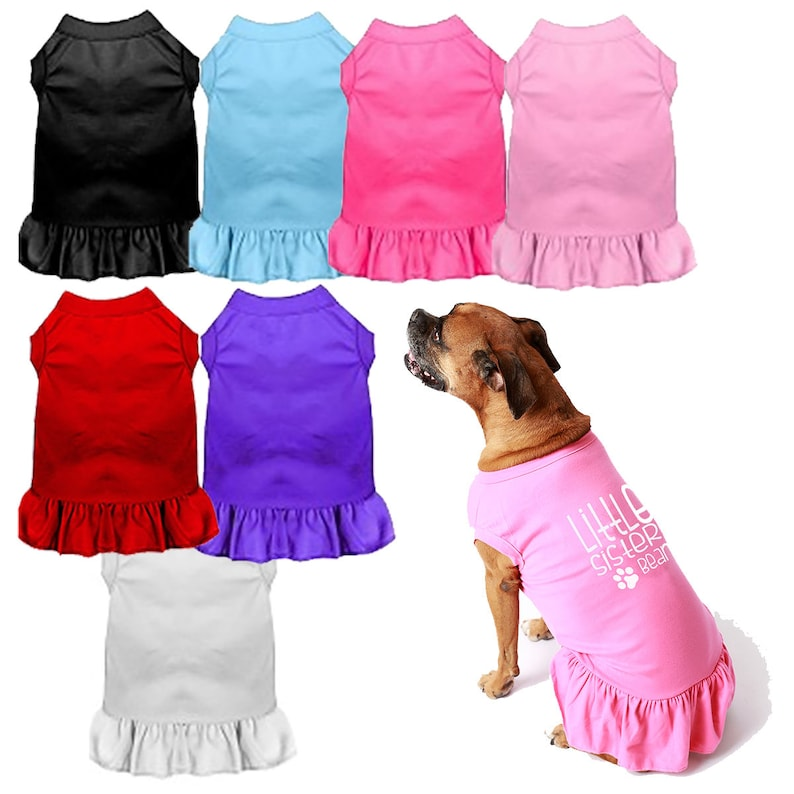 Blank Dog Dress T Shirt For Printing Vinyl Embroidery Pet Etsy