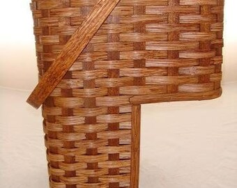 Amish Handmade Large 9 Inch Stair Step Basket