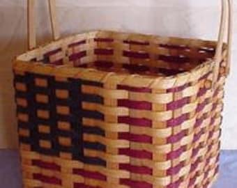 Amish Made American Flag Picnic Basket