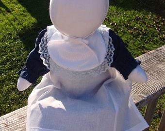 Traditional handmade Amish Girl Doll.