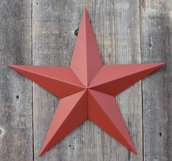 10 Barn Star In The Color Barn Red Galvanized Metal Etsy